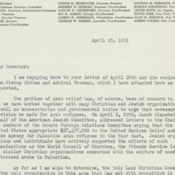 Letter : 1951 April 25