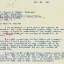 Letter: 1942 July 31