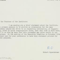 Letter: 1951 November 16