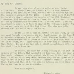 Letter : 1932 October 29