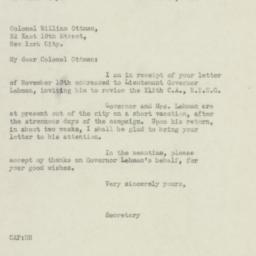Letter : 1932 November 14