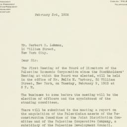 Letter : 1926 February 3