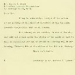 Letter : 1926 February 4