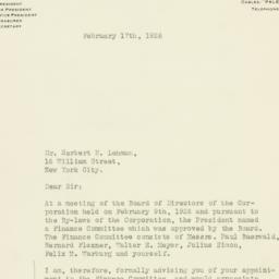 Letter : 1926 February 17