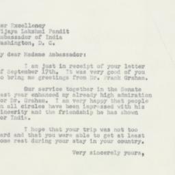 Letter : 1951 September 20