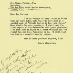 Letter : 1932 March 30
