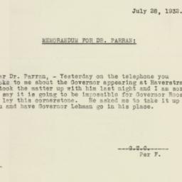 Letter : 1932 July 28