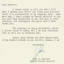 Letter : 1952 September 29