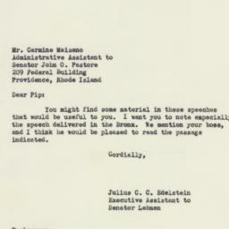 Letter : 1952 October 16