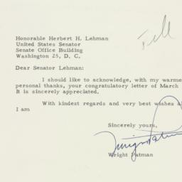 Letter : 1954 March 17
