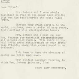 Letter : 1957 October 15