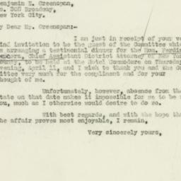 Letter : 1929 March 31