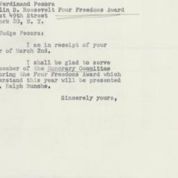 Letter : 1951 March 9