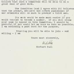 Letter : 1945 March 15