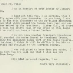 Letter : 1953 January 21