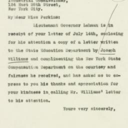 Letter: 1930 July 15