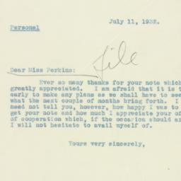 Letter : 1932 July 11