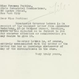 Letter: 1932 December 3