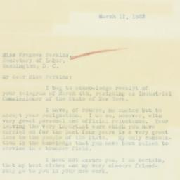 Letter: 1933 March 11