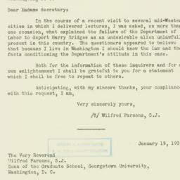 Letter: 1939 January 21