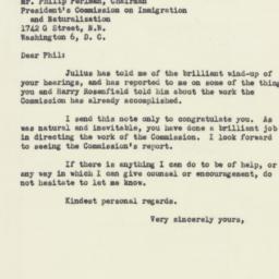 Letter : 1952 October 30