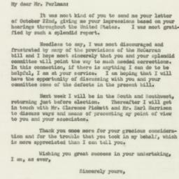 Letter : 1952 October 25