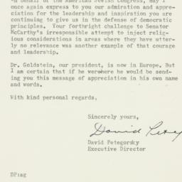 Letter : 1953 July 23
