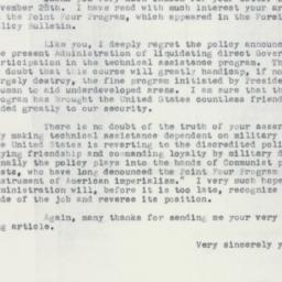 Letter : 1953 December 3