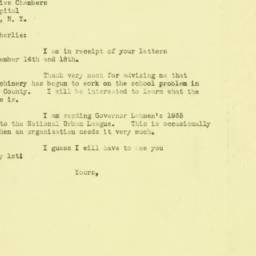 Letter: 1934 December 19