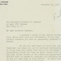 Letter : 1947 November 26