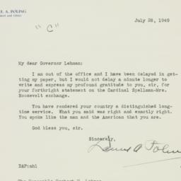 Letter : 1949 July 28