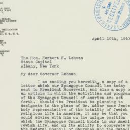 Letter : 1940 April 10