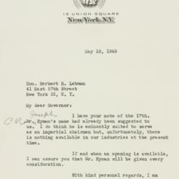 Letter : 1948 May 19