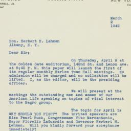 Letter: 1942 March 2