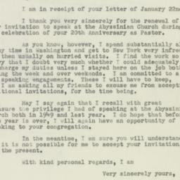 Letter : 1951 January 30