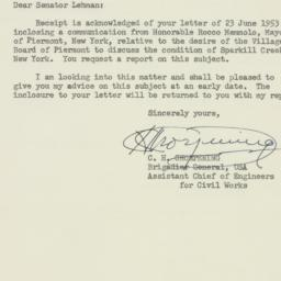 Letter : 1953 June 29