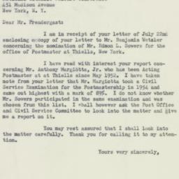 Letter : 1954 July 28