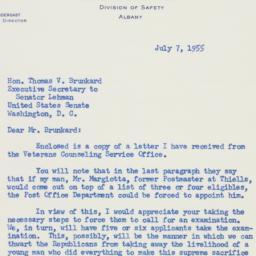 Letter: 1955 July 7