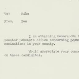 Memorandum: 1956 February 21