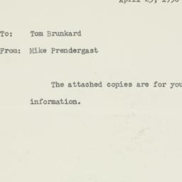 Memorandum : 1956 April 23