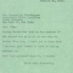 Letter: 1957 January 21