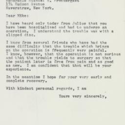 Letter: 1957 December 7