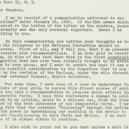 Letter : 1960 January 29