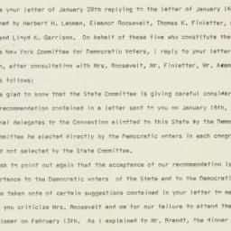 Press Release: 1960 February 1