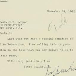 Letter : 1932 December 29