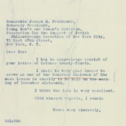 Letter : 1934 October 29