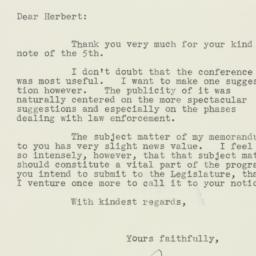 Letter : 1935 October 8