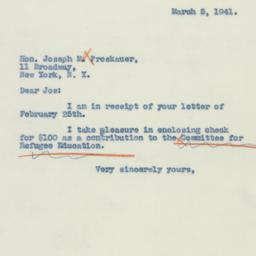 Letter : 1941 March 5