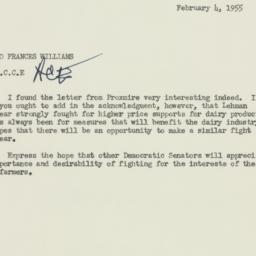 Memorandum : 1955 February 4