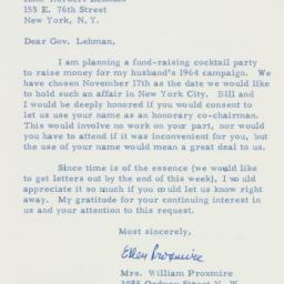 Letter : 1963 October 2